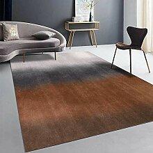 Teppiche sitzecke Wohnzimmer Teppich Braun schwarz