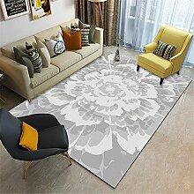 Teppiche Spiel Teppich Graues weißes Tintenart