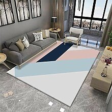 Teppiche Teppich abwaschbar Rosa blau grau