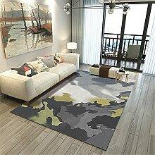Teppiche Teppich büro Schwarz grau grün