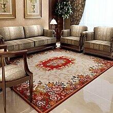 Teppiche Teppich-Couchtisch-Studie-rechteckiges Schlafzimmer-Nachttisch-Wohnzimmer-europäischer Teppich 120 × 180CM ( Farbe : C )