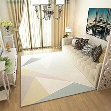 Teppiche Teppich europäischen Mode Wohnzimmer Sofa Couchtisch rechteckigen Teppich Schlafzimmer 120 cm × 160 cm ( Farbe : B )