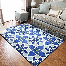 Teppiche Teppich Europäischen Stil Mode Schlafzimmer Couchtisch Rechteckige Wohnzimmer Sofa Zimmer Bedside Home 100cmx150cm ( Farbe : A )