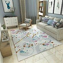 Teppiche Teppich Europäischen Stil Teppich Wohnzimmer Wohnzimmer Schlafzimmer Couchtisch Teppich Sofa Nachttisch Hause Decke 120cm × 160cm ( Farbe : C )