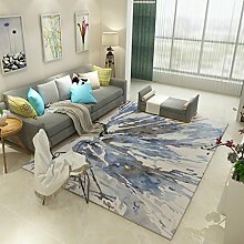 Teppiche Teppich European Living Room Rechteck Teppich Schlafzimmer Bedside Couchtisch Moderner Minimalistischer Teppich 120cm × 160cm ( Farbe : A )
