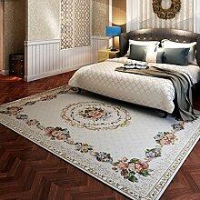Teppiche Teppich Im Europäischen Stil Teppich Rechteckige Wohnzimmer Couchtisch Schlafzimmer Nachtwäsche Waschbar Maschine 100 * 150 Cm ( Farbe : A )
