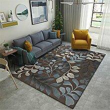 Teppiche Teppich modern Blaues braunes