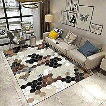 Teppiche Teppich modern Schwarzes braunes weißes