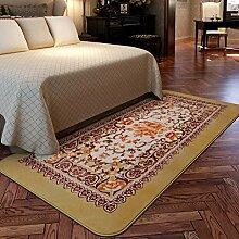 Teppiche Teppich Rechteckige Wohnzimmer Europäischen Couchtisch Teppich Schlafzimmer Nachtdecke Mode 90 * 185 CM ( Farbe : A )