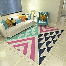 Teppiche Teppich Rechteckigen Schlafzimmer Wohnzimmer Sofa Couchtisch Europäischen Mode Teppich 120cm × 160cm ( Farbe : B )
