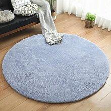 Teppiche Teppich Runde Wohnzimmer Couchtisch Schlafzimmer Modern Einfache Kinder Zelt Korb Stuhl Matte Dicke 120 Cm ( Farbe : Blau )