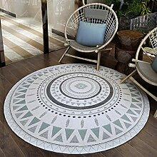 Teppiche Teppich Schlafzimmer Nacht Wohnzimmer Kissen Boden Treppen Studie Computer Stuhl Pad Runde Teppich 120 CM ( Farbe : B )