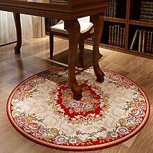 Teppiche Teppich-Teppich-europäisches Studien-Wohnzimmer-rundes Schlafzimmer-Bett-Wolldecke Kann 90CM, 120CM In Der Maschine Gewaschen Werden ( größe : 120CM )