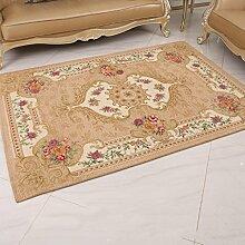 Teppiche Teppich Teppich Im Europäischen Stil Rechteckige Schlafzimmer Sofa Decke Wohnzimmer Shop Hause Bettwäsche 120 × 180cm ( Farbe : F )