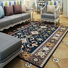 Teppiche Teppich-Teppich-kontinentales Rechteckiges Wohnzimmer-Couchtisch-Studien-Schlafzimmer-Nachttisch-Maschinen-waschbarer Teppich 120 * 180CM ( Farbe : B )