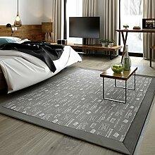 Teppiche Teppich-Teppich-rechteckiger Europäischer Couchtisch-Studie-Schlafzimmer-Nachttisch-Teppich-Wohnzimmer-Teppich 130 × 190CM ( Farbe : D )