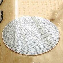 Teppiche Teppich Teppich Runde Wohnzimmer Computer Stuhl Verdicken Schlafzimmer Couchtisch Hängekorb Teppich 100 Cm ( Farbe : Weiß )