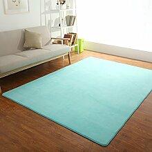 Teppiche Teppich Teppich Sofa Couchtisch Europäischen Wohnzimmer Schlafzimmer Nacht Rechteckig Einfache Und Moderne 120 * 200 Cm, ( Farbe : Hellblau )