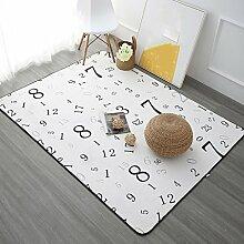 Teppiche Teppich Teppich Wohnzimmer Continental Einfache Moderne Schlafzimmer Couchtisch Sofa Home Rechteckigen Nachttisch Decken 100 Cm × 150 Cm, 120 Cm × 180 Cm ( Farbe : B , größe : 120cm × 180cm )