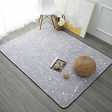 Teppiche Teppich Teppich Wohnzimmer Continental Einfache Moderne Schlafzimmer Couchtisch Sofa Home Rechteckigen Nachttisch Decken 100 Cm × 150 Cm, 120 Cm × 180 Cm ( Farbe : B , größe : 100cm × 150cm )