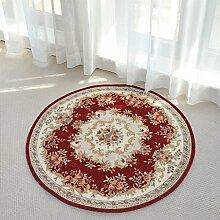 Teppiche Teppich-Teppich-Wohnzimmer-runde Europäische Art Schlafzimmer-Bett-Decken-Studie-Kaffee-Tabellen-Teppich 80CM, 90CM, 120CM ( größe : 80cm )