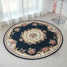 Teppiche Teppich Teppich Wohnzimmer Waschbar Teppich Rundtisch Couchtisch Studie Schlafzimmer Nachtteppich Europäischen 80 CM, 90 CM, 120 CM ( größe : 120CM )