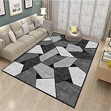Teppiche Teppich weich Waschbarer schwarzgrauer