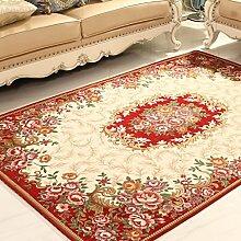 Teppiche Teppich Wohnzimmer Hause Nachttisch Rechteckigen Schlafzimmer Sofa Wohnzimmer Europäischen Stil Couchtisch Decke 90 × 140 Cm ( Farbe : G )