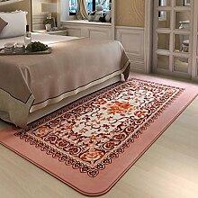 Teppiche Teppich-Wohnzimmer-kontinentaler Kaffeetisch-rechteckige Teppich-Schlafzimmer-Bettdecke-Decke Mode 90 * 185CM ( Farbe : C )