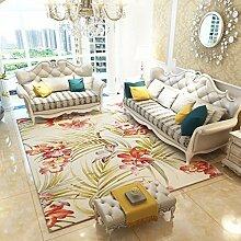 Teppiche Teppich Wohnzimmer Sofa Couchtisch Hause Studie Continental Einfachen Modernen Teppich Nachttisch Bett 120cm × 160cm ( Farbe : B )