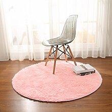Teppiche Wohnzimmer Rosa Mode Schlafzimmer Teppich Wohnzimmer Teppich Runde Teppiche Computer Stuhl Pad Yoga Matte ( größe : Diameter 160cm )