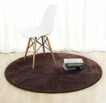 Teppiche Wohnzimmer Runde Einfarbig Teppich
