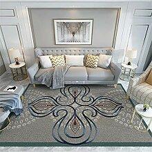 Teppiche wohnzimmerteppich Einfache saubere graue