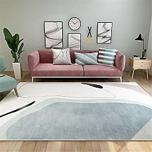 Teppiche zimmerdeko Leicht zu reinigen grau weiß