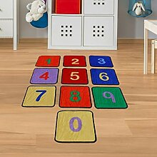 Teppichfliesen Zahlen - Kinderteppich mit 10