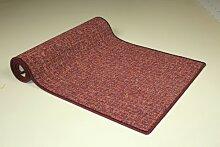 Teppichläufer Bermuda rot Teppich Brücke Läufer Meterware 110 cm breit, robust und unempfindlich 110 x 450 cm