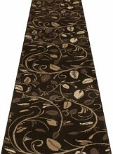 Teppichläufer für Flur & Treppen, braun–(erhältlich in jeder Länge bis 30m), Polypropylen, braun, L: 7.20m (23ft 7in) x W: 70cm*