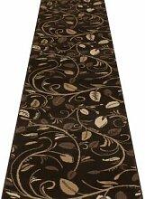Teppichläufer für Flur & Treppen, braun–(erhältlich in jeder Länge bis 30m), Polypropylen, braun, L: 8.70m (28ft 7in) x W: 60cm