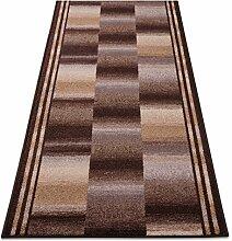 Teppichläufer Ikaria braun 16802 Teppich Läufer Brücke Flur Meterware in 44 Größen, 3 Farben, rutschsicher, 67 cm brei