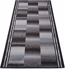 Teppichläufer Ikaria grau 16806 Teppich Läufer Brücke Flur Meterware in 44 Größen, 3 Farben, rutschsicher, 100 cm brei