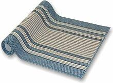 Teppichläufer Koos blau Läufer Teppich Brücke Flur Küche Meterware rutschfest und feuchtraum 100 cm breit in 44 Größen