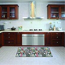 Teppichläufer/ Küchenläufer/ maschinenwaschbar, Küchenteppich/ Läufer, 52cm x 140cm, anti-milben und rutschfest,teppich küchenläufer geometrisch muster,100% Made in Italy,teppich mit digitaldruck.