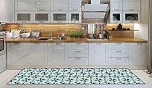 Teppichläufer/ Küchenläufer/ maschinenwaschbar, Küchenteppich/ Läufer, 52cm x 240cm, anti-milben und rutschfest, teppich/ küchenläufer/ bienenwaben muster,100% Made in Italy,teppich mit digitaldruck.
