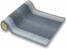 Teppichläufer Leon blaugrau 524 Teppich Läufer Brücke Flur Meterware in 44 Größen. 4 Farben, rutschsicher, 80 cm brei