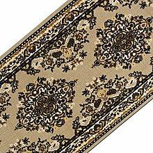 Teppichläufer mit klassischem Design in brillianten Farben   hochwertige Meterware, gekettelt   Kurzflor Teppich Läufer   Küchenläufer, Flurläufer (80x550 cm)