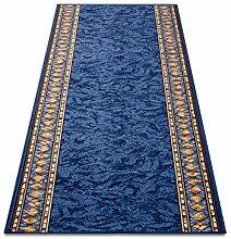 Teppichläufer Rügen blau 546 Teppich Läufer Brücke Flur Meterware in 44 Größen, 4 Farben, rutschsicher, 80 cm brei