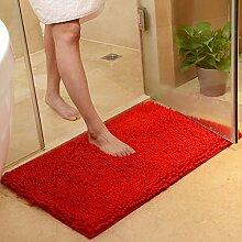 Teppichmatte Badezimmer Schlafzimmer Eingangstür Wasser saugfähige rutschfeste Mehrzweck Pad Matte (50 * 80cm) ( farbe : T )