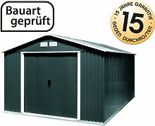 Tepro Gartenhaus / Metallgerätehaus Colossus 10x10 anthrazi