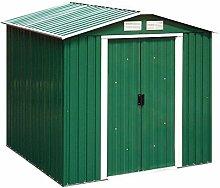 Tepro Gartenhaus / Metallgerätehaus Riverton 6x6 grün