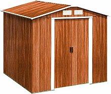 Tepro Gartenhaus / Metallgerätehaus Riverton 6x6 Holzoptik